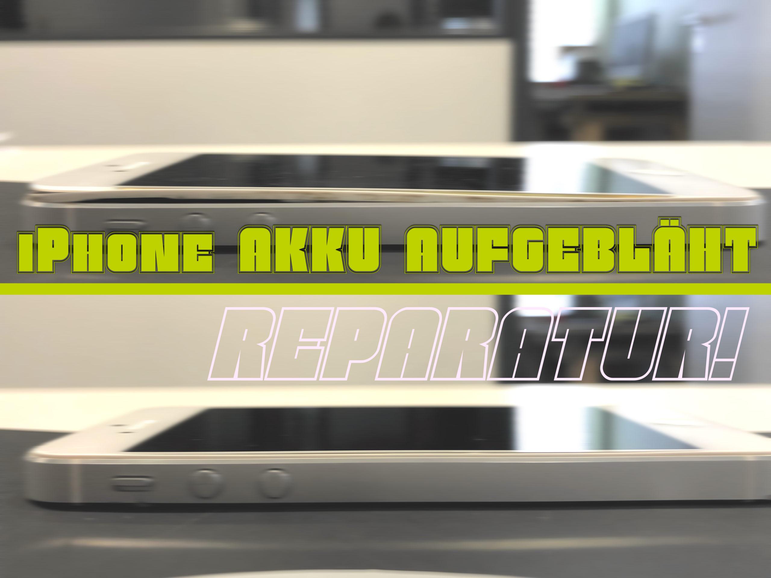 Aus der Werkstatt: iPhone Akku aufgebläht • Display wird raus gedrückt