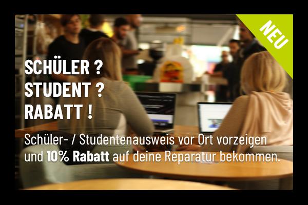 Reparatur Rabatt für Schüler und Studenten